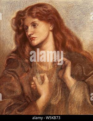 Dante Gabriel Rossetti - Alexa Wilding (1874). - Stock Photo