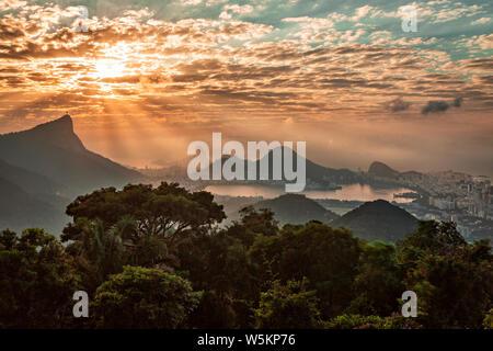 Sunrise in Vista Chinesa, Rio de Janeiro - Stock Photo