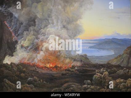 'Vesuvius in Eruption' by Johan Christian Dahl, 1821, - Stock Photo