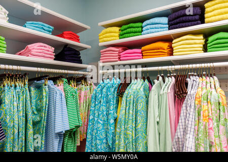 Palm Beach Florida South County Road C. Orrico store business upscale upmarket shopping boutique fashion casual resort wear summ - Stock Photo