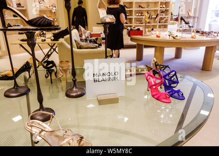 Palm Beach Florida Worth Avenue Saks Fifth 5th Avenue upscale luxury high-end department store fashion business shopping retail - Stock Photo