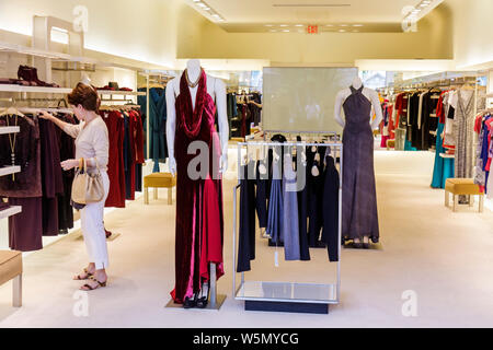 Palm Beach Florida Worth Avenue business boutique store upscale fashion luxury high-end shopping retail women's clothes clothing - Stock Photo