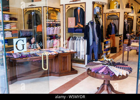 Palm Beach Florida Worth Avenue Giorgio's business boutique store fashion upscale luxury high-end shopping retail entrance door - Stock Photo