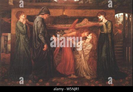 Dante Gabriel Rossetti - Dante's Dream at the Time of the Death of Beatrice (1871). - Stock Photo