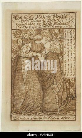 Dante Gabriel Rossetti - The Early Italian Poets (study for titlepage) 01. - Stock Photo