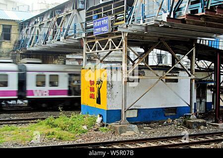 Lower Parel Railway Station, Mumbai, Maharashtra, India, Asia - Stock Photo