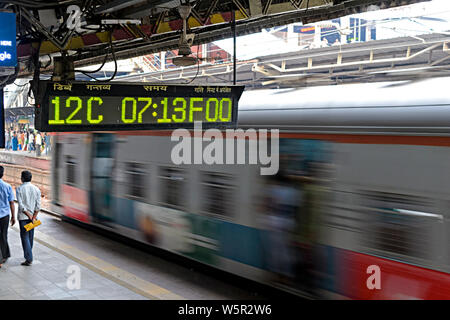 Dadar Railway Station Mumbai Maharashtra India Asia - Stock Photo