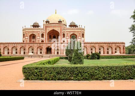 Panorama of Humayun's Tomb, New Delhi, India - Stock Photo