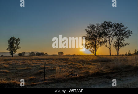 Winter farm landscape kwaZulu-Natal midlands region in South Africa image with copy space - Stock Photo