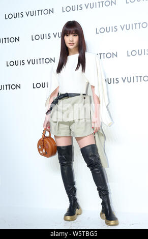 **TAIWAN OUT**Taiwanese singer and actress Rainie Yang poses at LV's iconic Time Capsule Exhibition in Taipei, Taiwan, 14 December 2018.    *** Local - Stock Photo