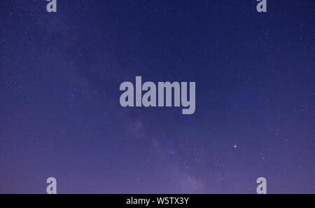 Landscape with Milky way galaxy. Night sky - Stock Photo