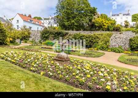 Candie Gardens, restored late 19th century gardens, St Peter Port, Guernsey, Channel Islands UK
