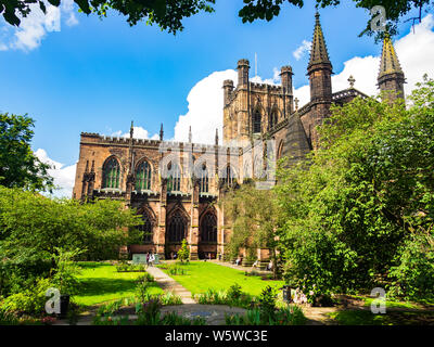 Chester Cathedral, Chester, England - Stock Photo