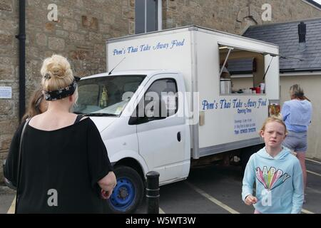 People waiting for take away food - Stock Photo