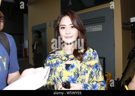 Hong Kong singer and actress Gillian Chung of pop duo Twins attends an anniversary party in Hong Kong, China, 12 November 2018. - Stock Photo