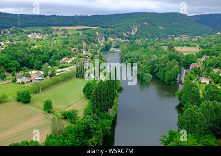 saint-cirq-lapopie, lot valley, france - Stock Photo