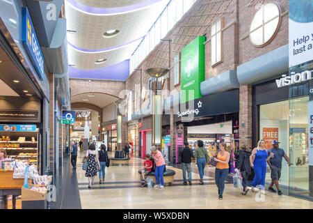 Interior of Touchwood Shopping Centre, Solihull High Street, Solihull, West Midlands, England, United Kingdom - Stock Photo
