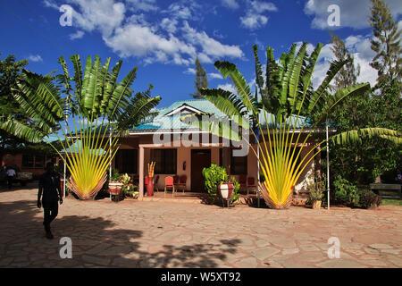 Lodge in Village of Masai, Tanzania - Stock Photo