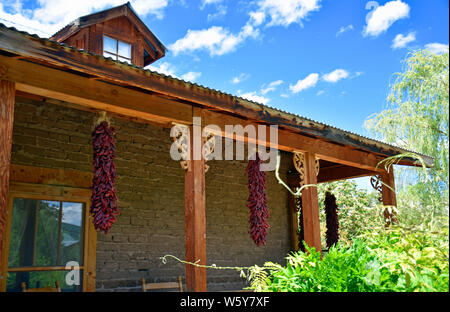 New Mexico Red Chili Ristra's - Stock Photo