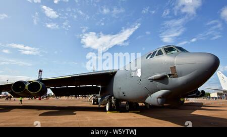 Boeing B-52 Stratofortress on static display at the 2019 Royal International Air Tattoo - Stock Photo