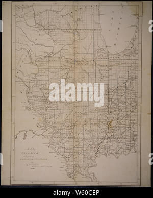 A map of Illinois, 1836 - Stock Photo