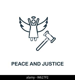 Peace And Justice outline icon. Thin line style from community icons collection. Pixel perfect simple element peace and justice icon for web design, a - Stock Photo