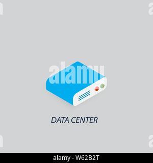 Data center data warehouse. Vector illustration . - Stock Photo