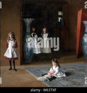 The Daughters of Edward Darley Boit, John Singer Sargent, 1882 (unfree frame crop). - Stock Photo