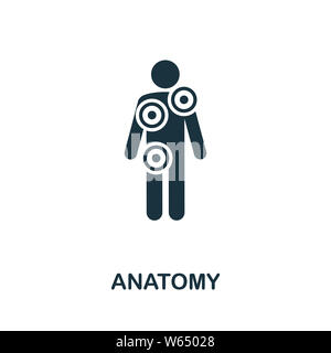 Anatomy icon illustration. Creative sign from science icons collection. Filled flat Anatomy icon for computer and mobile. Symbol, logo graphics. - Stock Photo