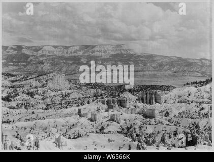 Escalante Mountain from Sunrise Point. - Stock Photo
