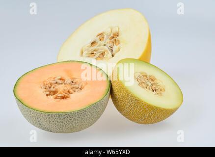 sugar melon, Cantaloupe, galia melon, Cantaloupe, Cucumis melo var. cantalupensis
