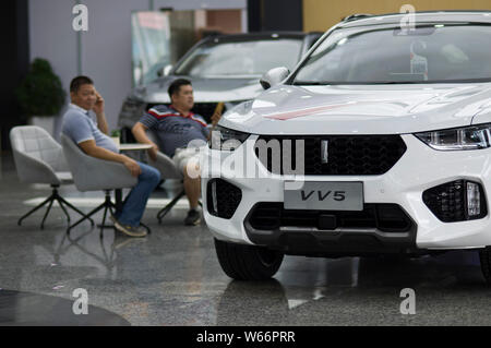 --FILE--A WEY VV5 SUV car of Great Wall Motors is for sale at a dealership store in Guangzhou city, south China's Guangdong province, 2 July 2018. - Stock Photo