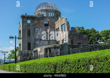 The Atomic Bomb Dome where At 8:15am on 6th August 1945, the first atomic bomb in human history was dropped on Hiroshima, Japan. - Stock Photo
