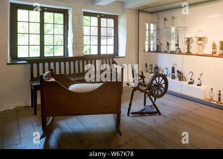 Deutschland, Nordrhein-Westfalen, Oberbergischer Kreis, Marienheide, Museum Haus Dahl, Haus Schenk genannt, erbaut 1586 - Stock Photo
