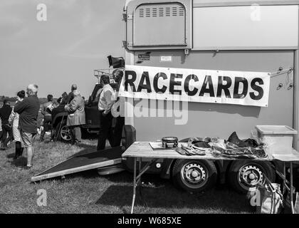 spectators at four burrow hunt point to point horse race 2019 - Stock Photo