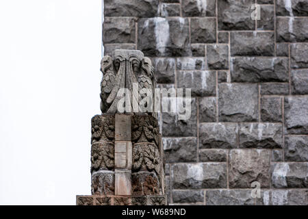 The National Museum of Finland, building reflects Finland's medieval churches and castles, Helsinki, Finland - Stock Photo