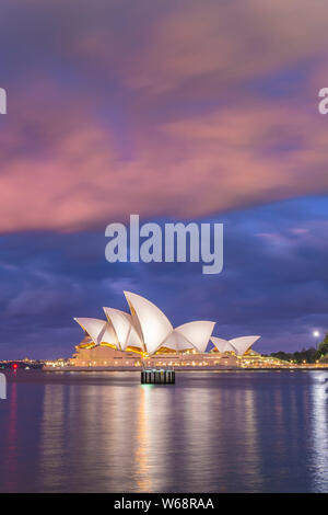 The Sydney Opera House is a multi-venue performing arts centre at Sydney Harbour in Sydney, New South Wales, Australia. It is one of the 20th century'