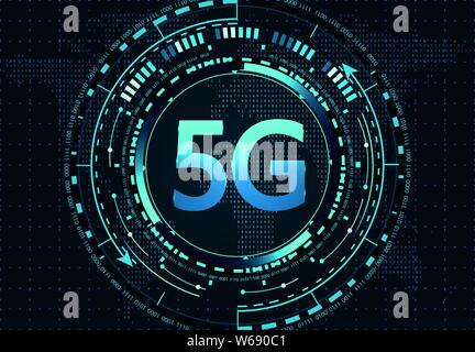 5G New wireless high-speed Internet connection and Wi-Fi. Illustration - Stock Photo