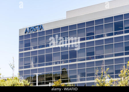 July 30, 2019 Santa Clara / CA / USA - Arista Networks (previously Arastra) is a computer networking company headquartered in Silicon Valley; The comp - Stock Photo