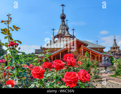 Rose Garden On Front Yard Of Christian Temple Of The Holy