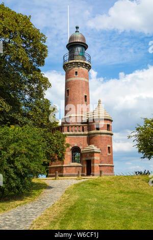 Historic lighthouse at Kiel-Holtenau, Baltic Sea coast - Stock Photo