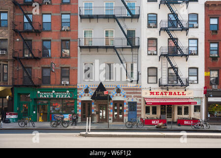 Chelsea New York, view in summer of typical buildings and shops on 9th Avenue in the Chelsea area of Manhattan, New York City, USA. - Stock Photo