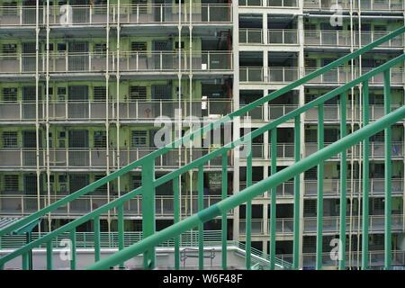 --FILE--View of the houses of public rental housing (PRH) in Hong Kong, China, 24 October 2017. - Stock Photo