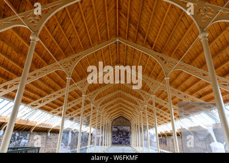 The Victorian roof structure at The Verdant Works Jute Museum, Dundee, Scotland, UK. - Stock Photo
