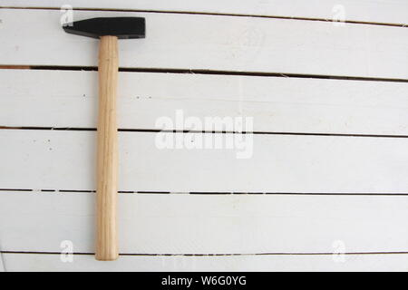 The claw hammer on white background - Stock Photo