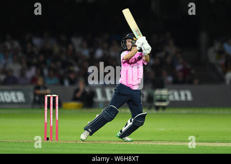 London, UK. 1st Aug, 2019.  during T20 Vitality Blast Fixture between Middesex vs Kent at The Lord Cricket Ground on Thursday, August 01, 2019 in LONDON ENGLAND. Credit: Taka G Wu/Alamy Live News - Stock Photo