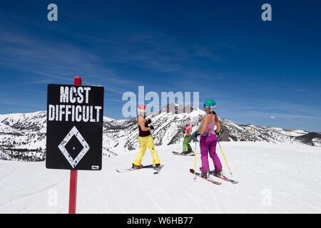 Mt. Rose spring skiing. - Stock Photo