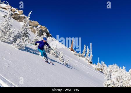 Mt. Rose ski shoot with Siani, Eric and Jessica. - Stock Photo