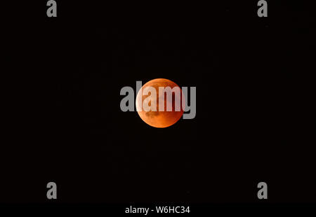 Moon. Lunar eclipse 27 July 2018 - Stock Photo