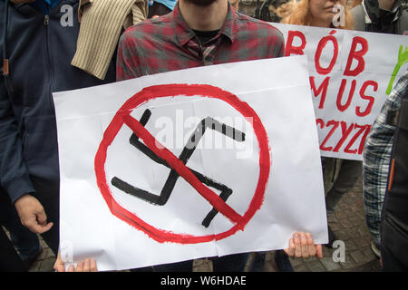 No naz sign in Gdansk, Poland. July 23rd 2019 © Wojciech Strozyk / Alamy Stock Photo - Stock Photo